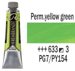 REMBRANDT Екстра Фини Маслени Бои 40 мл. - Permanent Yellow Green 3, № 633
