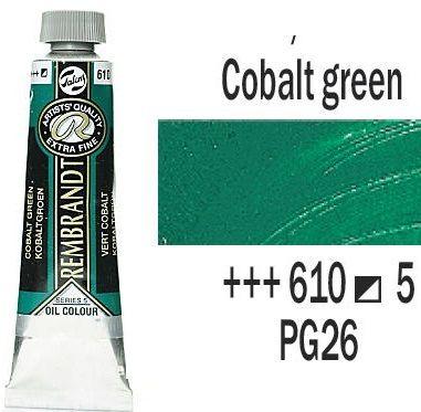 REMBRANDT Екстра Фини Маслени Бои 40 мл. - Cobalt Green 5, № 610