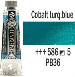 REMBRANDT Екстра Фини Маслени Бои 40 мл. - Cobalt Turquoise Blue 5, № 586