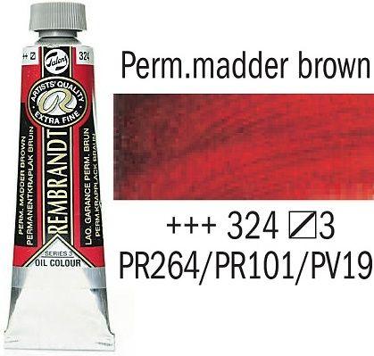 REMBRANDT Екстра Фини Маслени Бои 40 мл. - Perm. Mаdder Brown 3, № 324
