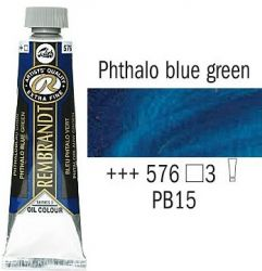 REMBRANDT Екстра Фини Маслени Бои 40 мл. - Phthalo Blue Green 3, № 576