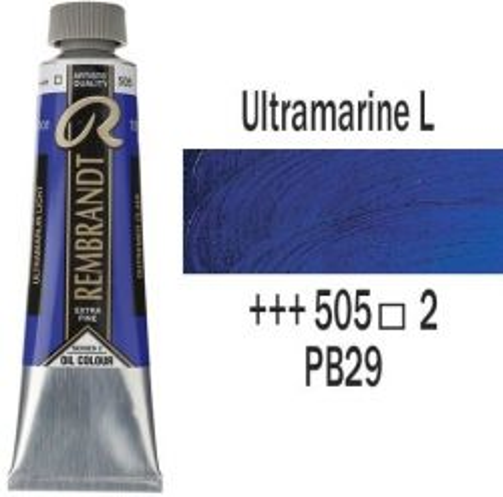 REMBRANDT Екстра Фини Маслени Бои 40 мл. - Ultramarine Light 2, № 505