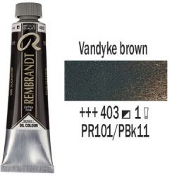 REMBRANDT Екстра Фини Маслени Бои 40 мл. - Vandyke brown 1, № 403