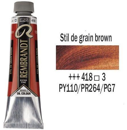 REMBRANDT Екстра Фини Маслени Бои 40 мл. Stil de grain brown - 3, № 418