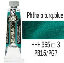 REMBRANDT Екстра Фини Маслени Бои 40 мл. - Phthalo Turquoise Blue 3, № 565