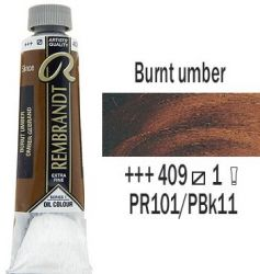 REMBRANDT Екстра Фини Маслени Бои 40 мл. -  Burnt Umber 1, № 409