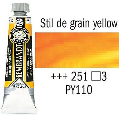 REMBRANDT Екстра Фини Маслени Бои 40 мл. - Stil de grain Yellow 3, № 251