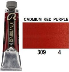 REMBRANDT Екстра Фини Маслени Бои 40 мл. - Cadmium Red Purple 4, № 309