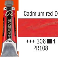 REMBRANDT Екстра Фини Маслени Бои 40 мл. - Cadmium Red Deep 4, № 306