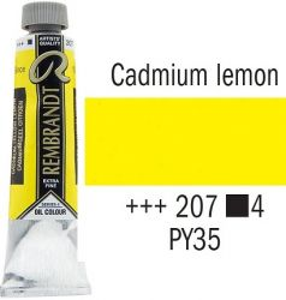 REMBRANDT Екстра Фини Маслени Бои 40 мл. - Cadmium Lemon 4, № 207