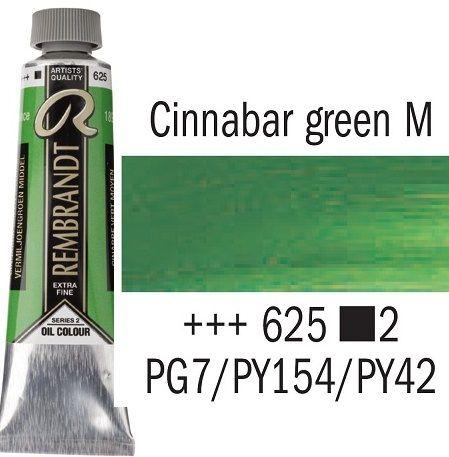 REMBRANDT Екстра Фини Маслени Бои 40 мл. - Cinnabar Green Medium 2, № 625