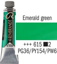 REMBRANDT Екстра Фини Маслени Бои 40 мл. - Emerald Green 3, № 615