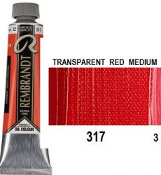 REMBRANDT Екстра Фини Маслени Бои 40 мл. - Transparent Red M 3, № 317