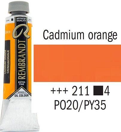 REMBRANDT Екстра Фини Маслени Бои 40 мл. - Cadmium Orange 4, № 211