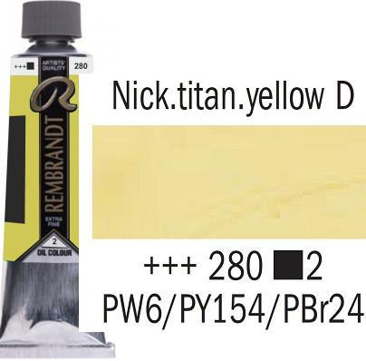 REMBRANDT Екстра Фини Маслени Бои 40 мл. - Nickel Titan Yellow Deep 2, № 280