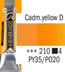 REMBRANDT Екстра Фини Маслени Бои 40 мл. - Cadmium Yellow Deep 4, № 210