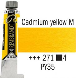 REMBRANDT Екстра Фини Маслени Бои 40 мл. - Cadmium Yellow Medium 4, № 271