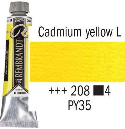 REMBRANDT Екстра Фини Маслени Бои 40 мл. - Cadmium Yellow Light 4, № 208