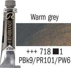 REMBRANDT Екстра Фини Маслени Бои 40 мл. - Warm Gray 1, № 718