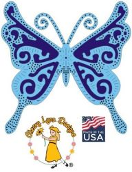 BUTTERFLY Cheery Lynn ,USA - Шаблон за рязане и ембос