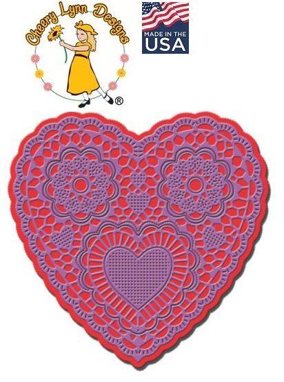 HEART by Cheery Lynn ,USA - Шаблон за рязане и ембос