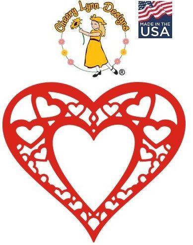 HEART by Cheery Lynn ,USA - Шаблон за рязане и ембос Сърца / dl178