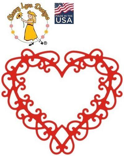 HEART by Cheery Lynn ,USA - Шаблон за рязане и ембос Сърце144