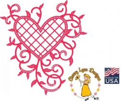 HEART by Cheery Lynn ,USA - Шаблон за рязане и ембос / b368