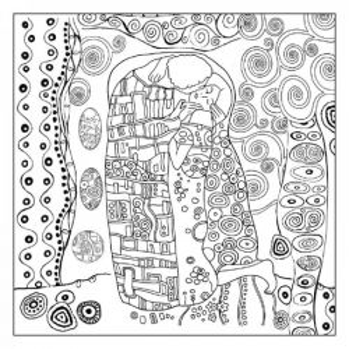 STAMPERIA ART Riso 14gr #KLIMT - Фина оризова декупажна хартия 50х50см / DFTM15