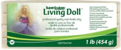 SUPER SCULPEY LIVING DOLL, 454g. LIGHT SKIN