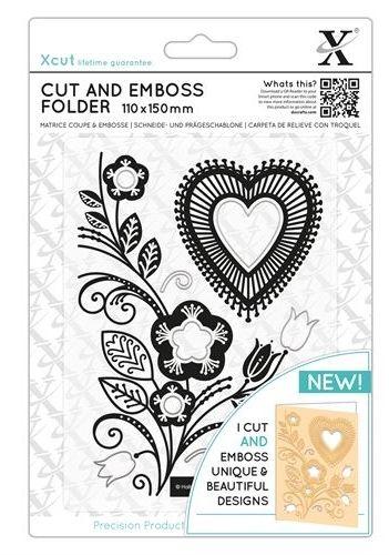 XCUT  DIES - Комплект щанцa за рязане и релеф FOLK HEART