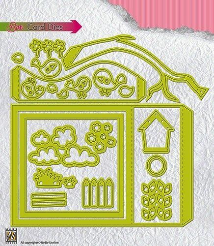 BOX CARD Nellie Snellen - Детайлна щанца за рязане и релеф, BCD001