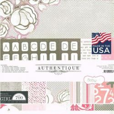 "AUTHENTIQUE USA # GIRL KIT 12"" x 12""- Дизайнерски блок 30.5 X 30.5"