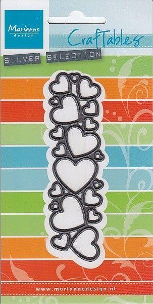 HEARTS by Marianne Design -  шаблони за рязане и ембос CR1322