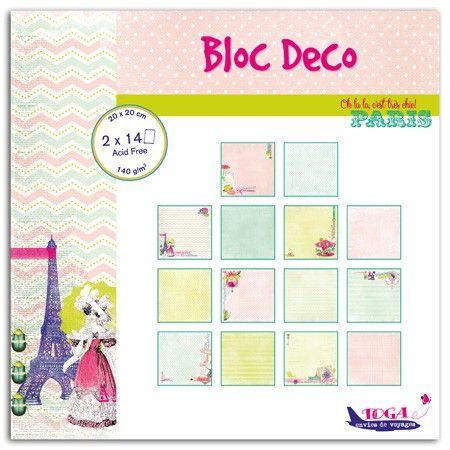 "TOGA BLOC DECO PARIS  - Дизайнерски блок 8""x8"" / 28 листа"