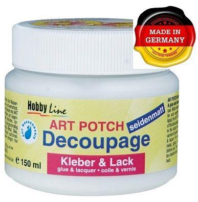 ART POTCH Decoupage - Лак / лепило за декупаж САТЕН 150 мл.