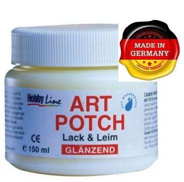 ART POTCH glanzened - Лак / лепило за салфетна техника  гланц 150 мл.