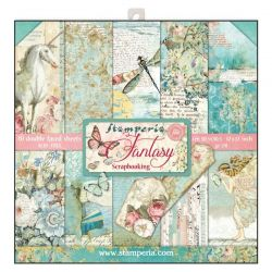 """STAMPERIA Double Face Sheets 10 Pack """"WONDERLAND""""  - Дизайнерски блок 12""""x12"""""""