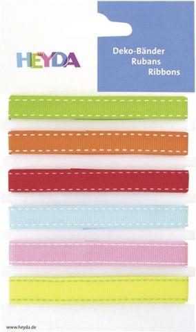 Deco Ribbon colourful 90cm 6pc