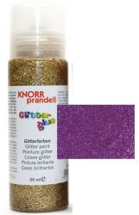 Glitter Glue -Брокат лепило за декорация 50ml. DARK LILAC