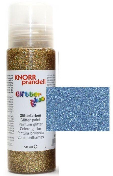 Glitter Glue с накрайник - Брокат контур за декорация 50ml.SKY BLUE