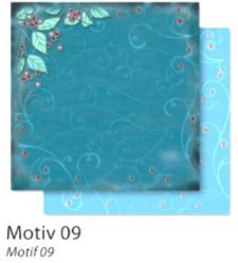 FB Christmas 09 - Дизайнерски картон с ембос-глитер елементи - 30,5 Х 30,5 см.