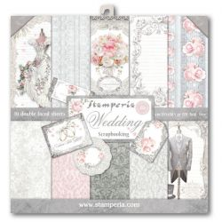 """STAMPERIA Double Face Sheets 10 Pack  - Дизайнерски блок 12""""x12"""" / WEDDING"""