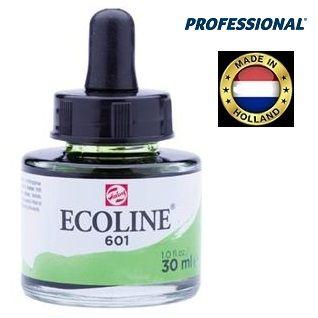ECOLINE PROFESSIONAL 30ml - Течен акварел 601 / СВЕТЛО ЗЕЛЕН
