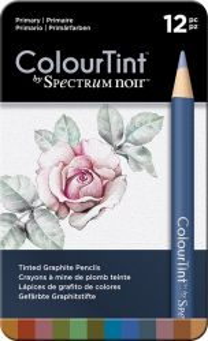 # SPECTRUM COLOUR TINT Pencils SET - Метална кутия цветни графитни моливи 12цв  -  PRIMARY