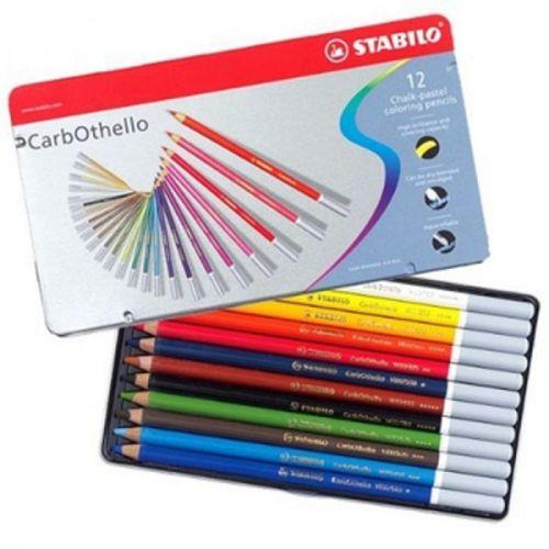 CARB OTHELLO PROFESSIONAL 12 SET - Метална кутия пастелни моливи 12цв