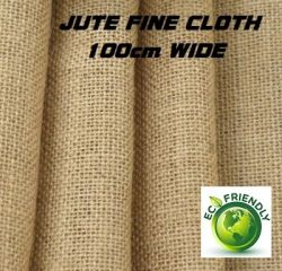 JUTE FIBRE CLOTH FINE - 100% ФИНА ЮТА ( ЗЕБЛО )  ширина 100см.