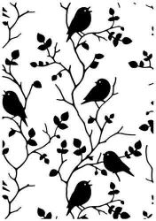 """Embossing Folders""""birds on branch"""" 106x150mm    - Папка за релеф / hsf027"""