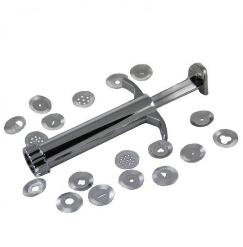 CLAY EXTRUDER POTTERS - Метален шприц за моделини с 19 приставки