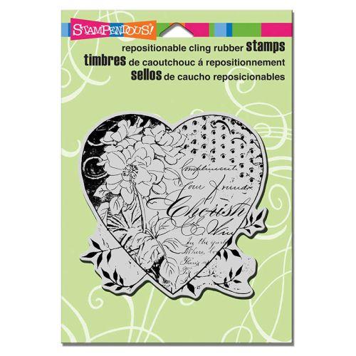 STAMPENDOUS,USA - Гумен клинг печат 10x10см Cherish Heart